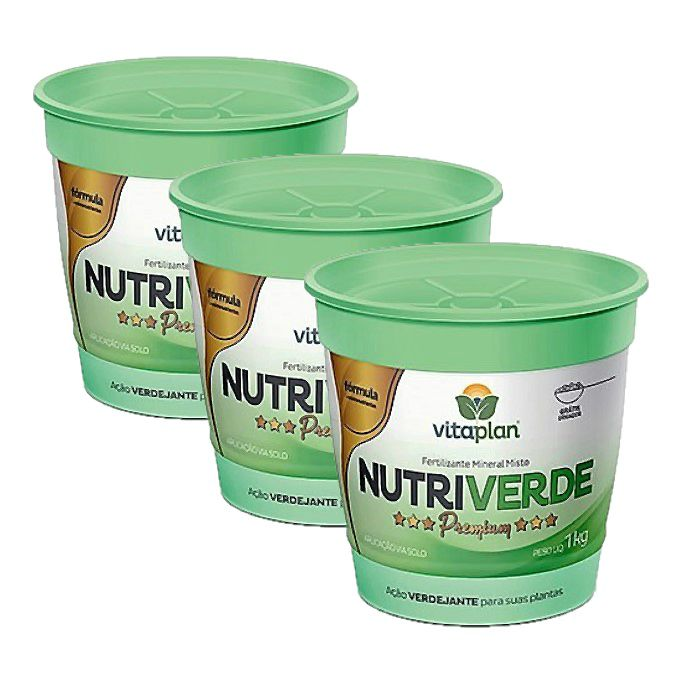 Fertilizante Nutriverde Premium - kit 3 embalagens 1 kg - manutenção
