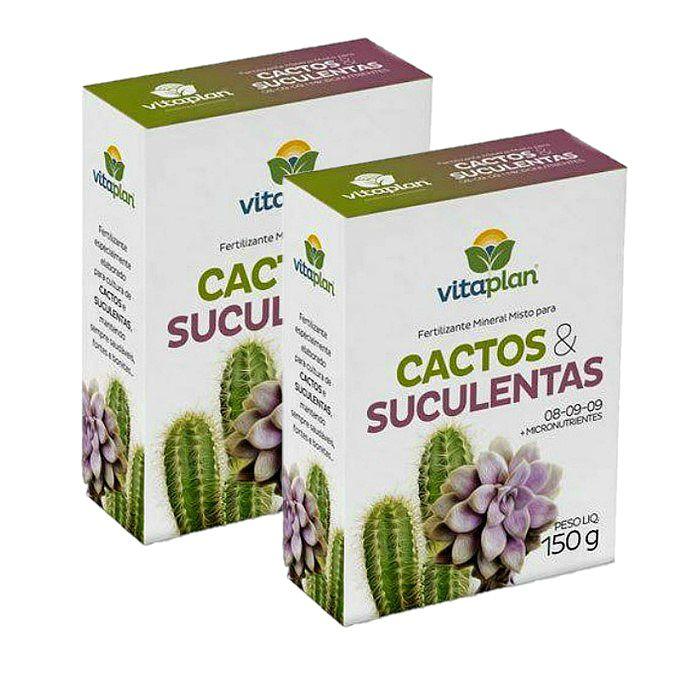 Fertilizante Cactos e Suculentas - kit 2 cx 150 g + brinde