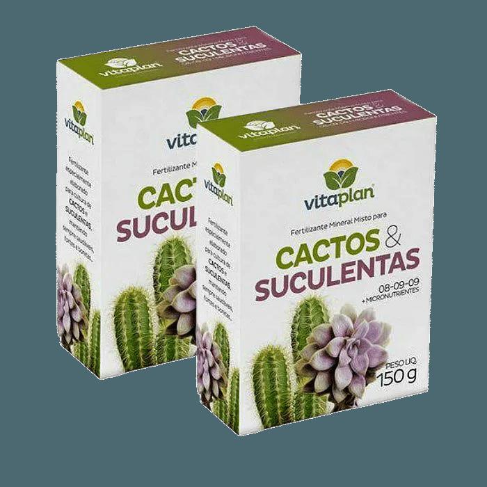 Fertilizante para Cactos e Suculentas Vitaplan - kit 2 caixas 150 g