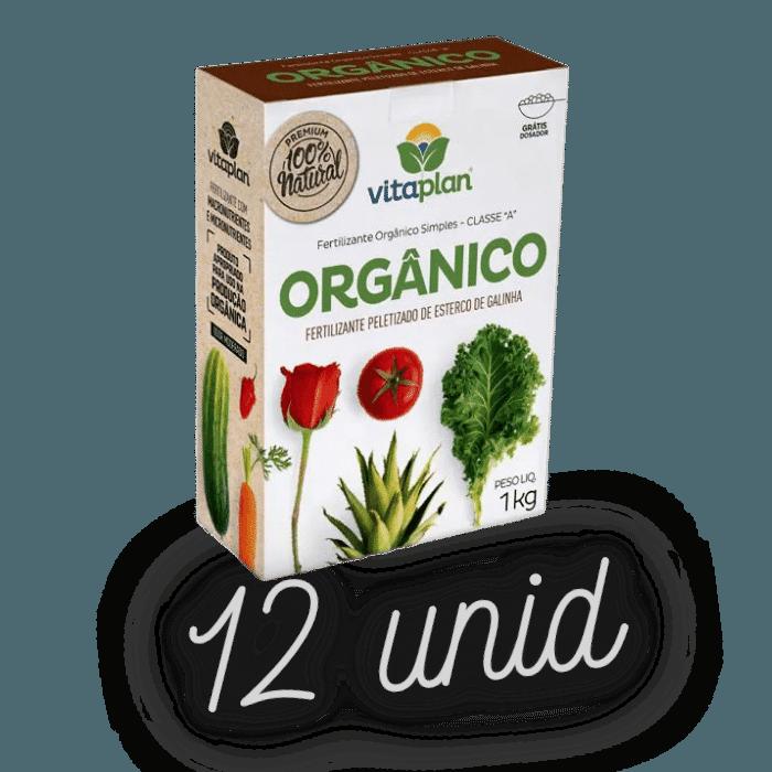 Fertilizante peletizado de esterco de galinha - kit 12 x 1 kg