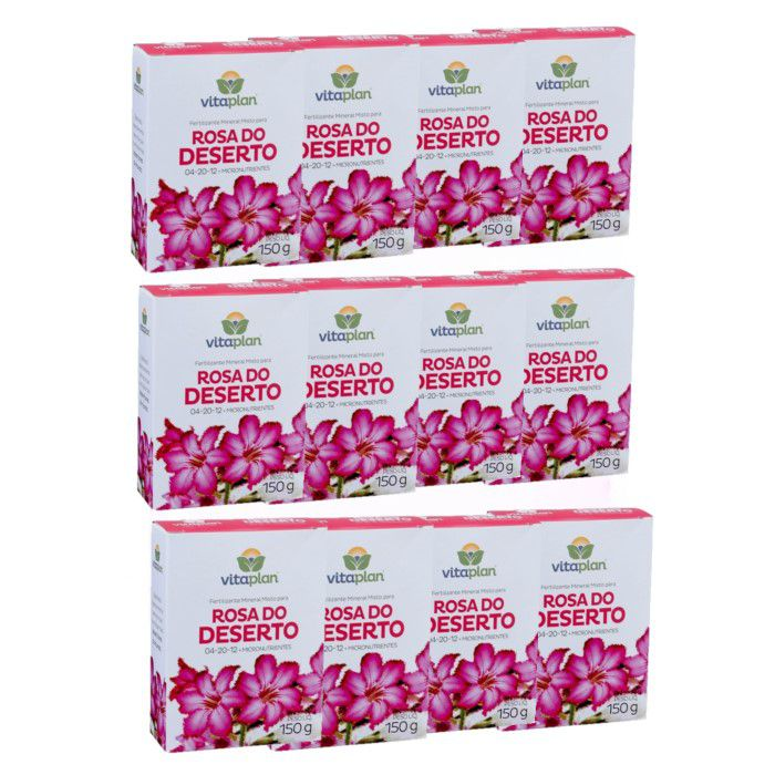 Fertilizante rosa do deserto - kit 12 caixas 150 gr