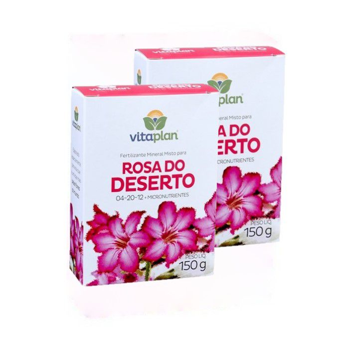 Fertilizante rosa do deserto - kit 2 caixas 150 gr