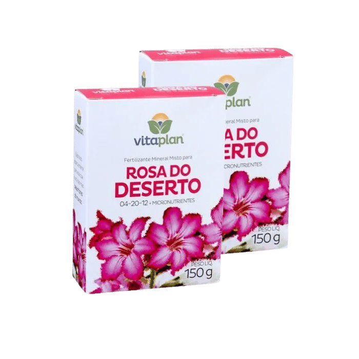 Fertilizante rosa do deserto - kit 2 caixas 150 gr