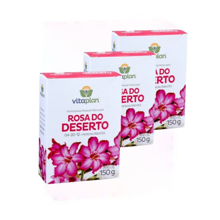 Fertilizante rosa do deserto - kit 3 caixas 150 gr
