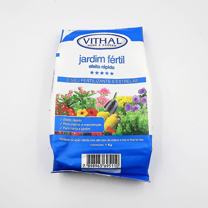 Fertilizante Vithal Jardim Fertil Efeito Rapido - NPK 12-12-17 - AMOSTRA