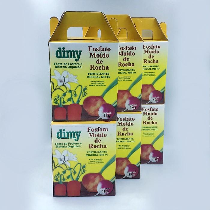 Fosfato moído de rocha - dimy - kit 6 x 1 kg