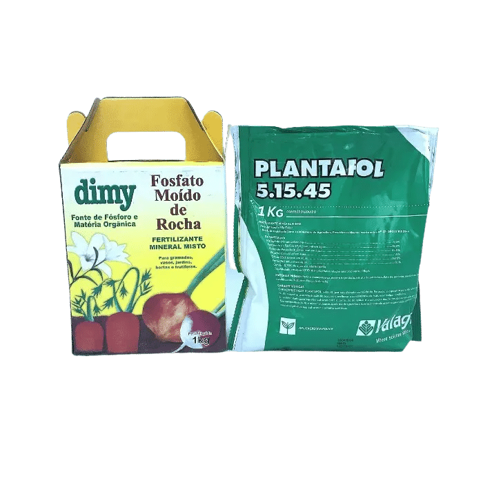 Fosfato moído de rocha + plantafol 05-15-45