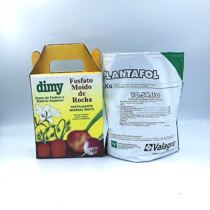 Fosfato moído de rocha + plantafol 10-54-10
