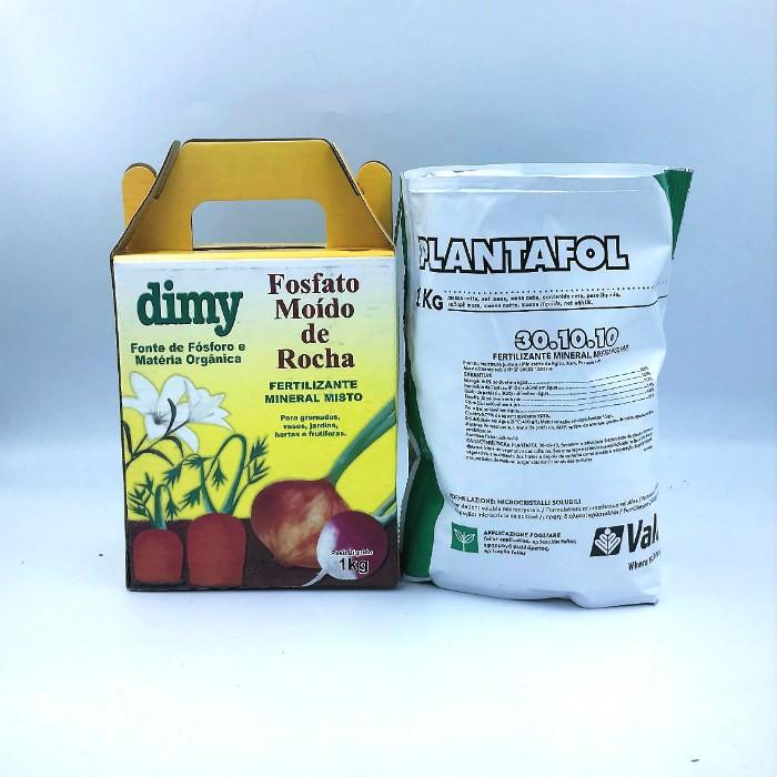 Fosfato moído de rocha + plantafol 30-10-10