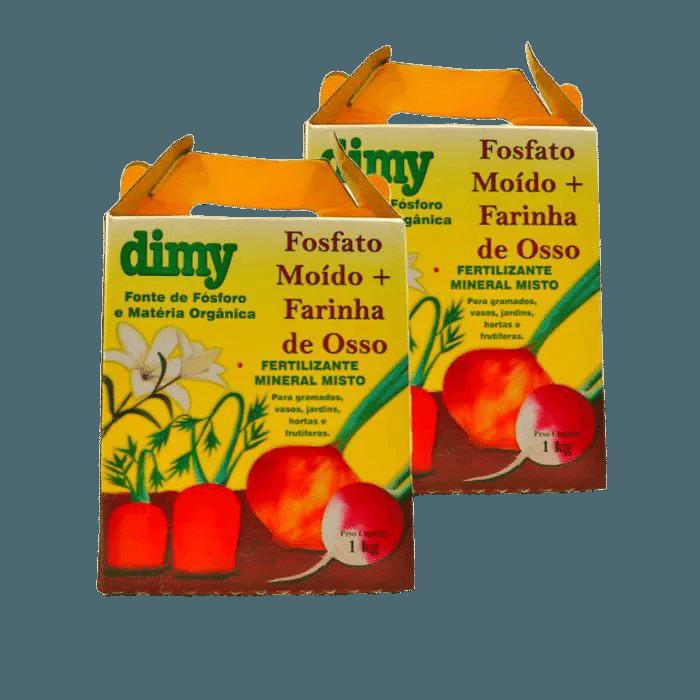 Fosfato moído + farinha de osso - dimy - kit 2 x 1 kg
