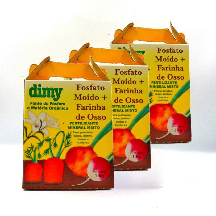 Fosfato moído + farinha de osso - dimy - kit 3 un