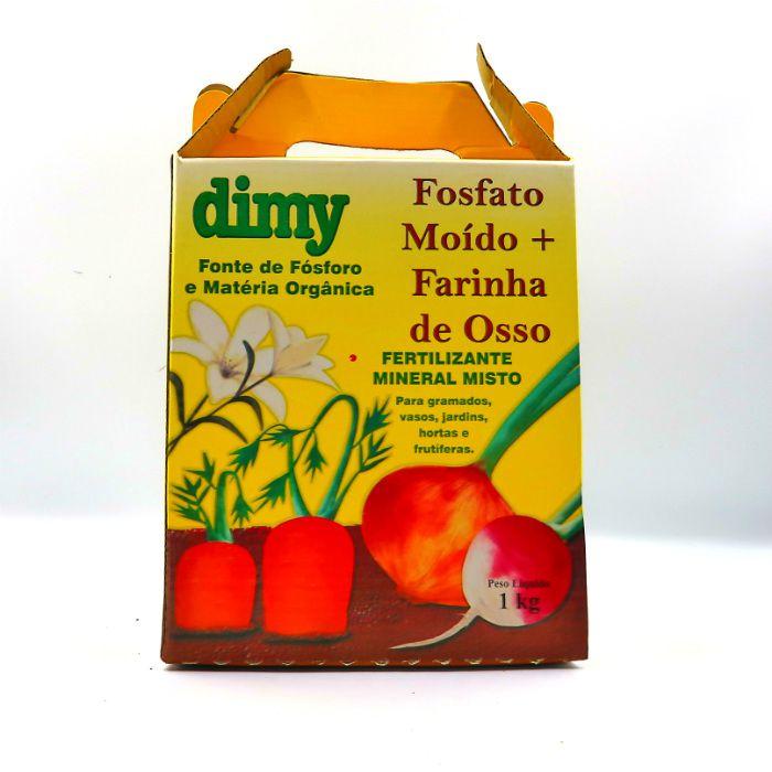 Fosfato moído + farinha de osso - dimy - kit 3 x 1 kg