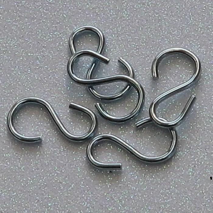 Gancho pequeno - 1,5 x 2,7 cm - kit 10 unidades
