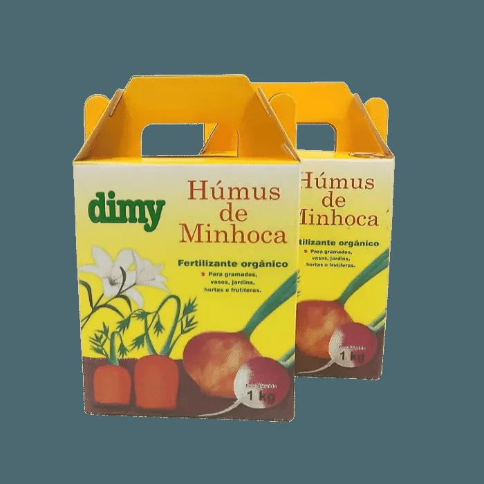 Humus de minhoca - dimy - kit 2 x 1 kg