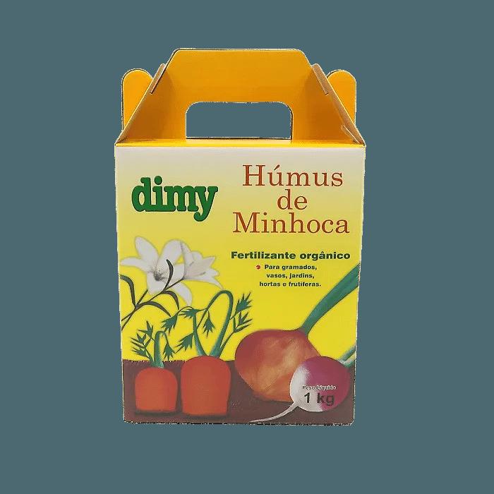 Humus de minhoca - dimy - kit 6 x 1 kg