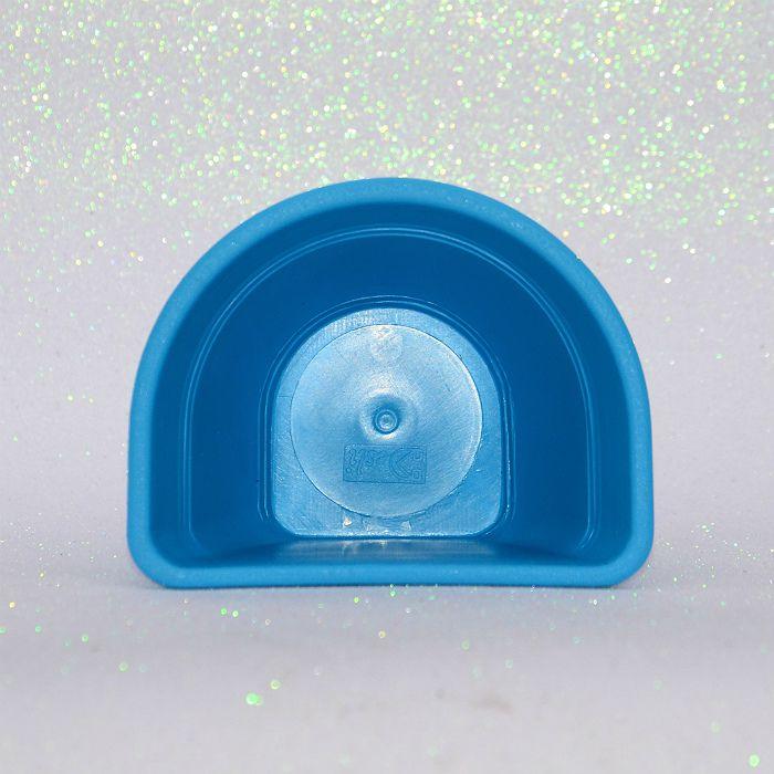 Vaso de parede - azul - 15 cm - Kit 05 un + brinde