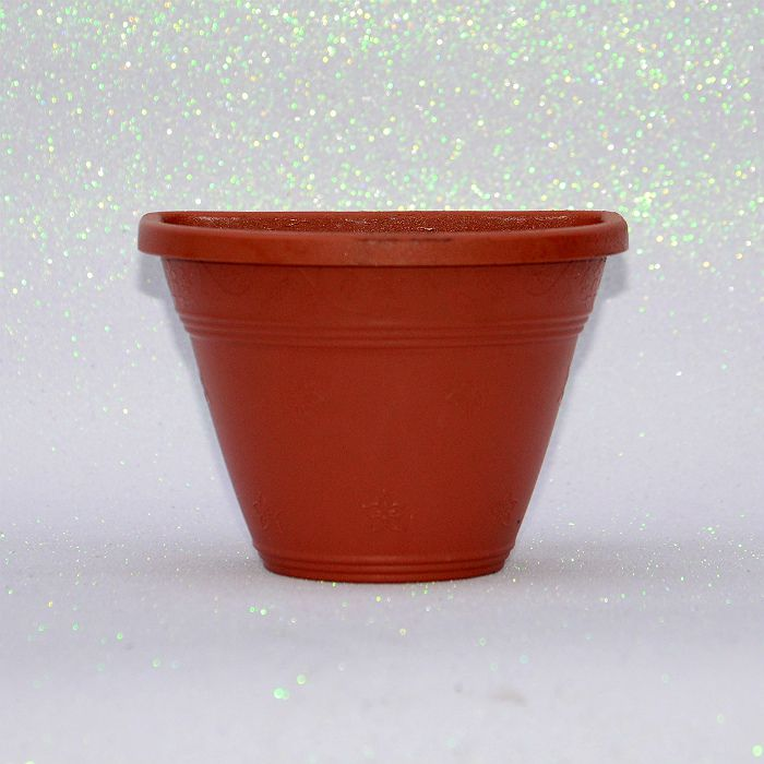 Vaso plástico de parede - vicenza - ceramica - 15 cm - kit 05 un
