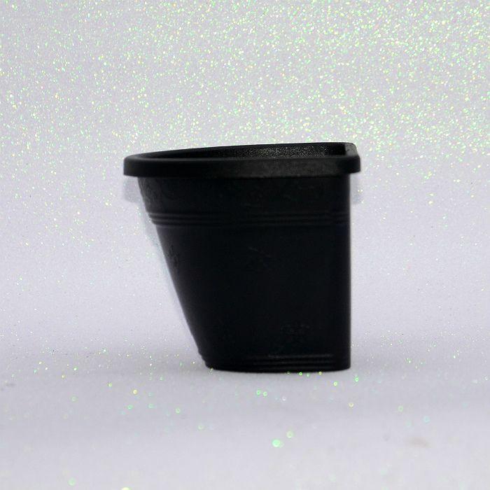 Vaso de parede - preto - 15 cm - Kit 05 un + brinde