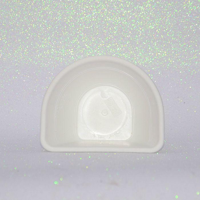 Vaso de parede - branco - 15 cm - Kit 05 un + brinde