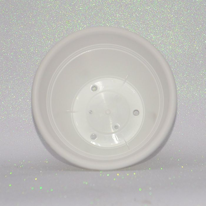 Vaso plastico - vicenza - branco - 19 cm - kit 05 un