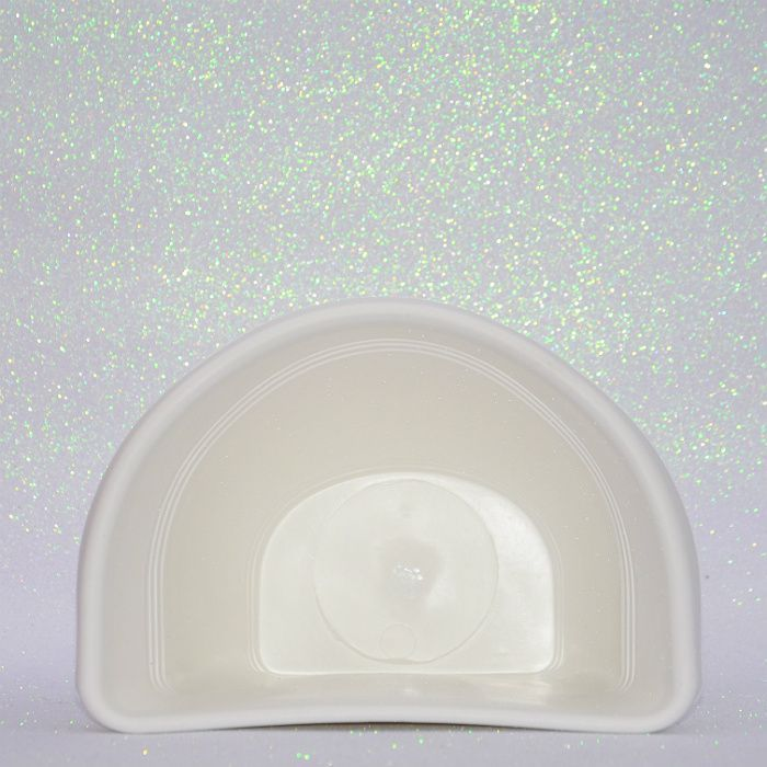 Vaso plástico de parede - vicenza - branco - 23 cm - kit 05 un