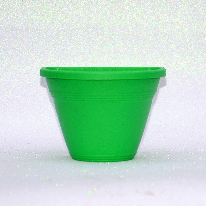 Vaso plástico de parede - vicenza - verde - 15 cm - kit 10 un