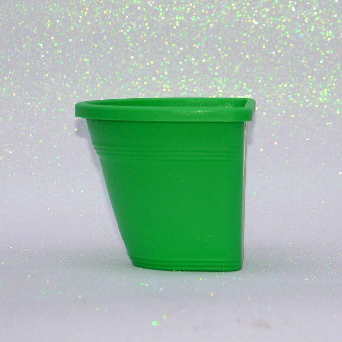 Vaso de parede - verde - 15 cm - Kit 10 un + brinde