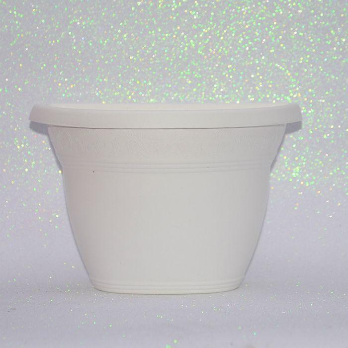 kit 16 - Vaso de parede - branco - 23 cm + brinde