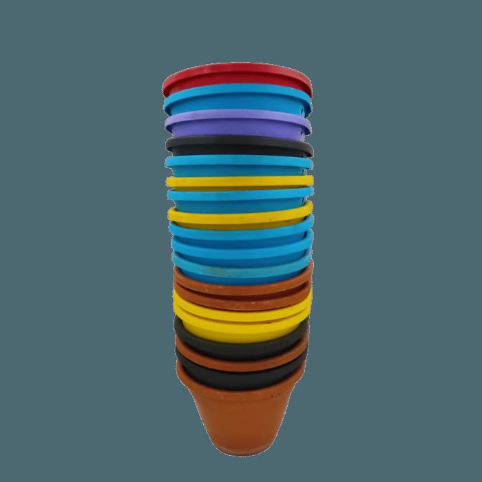 kit 19 Vasos plásticos de parede - Coloridos- 11 x 15 cm