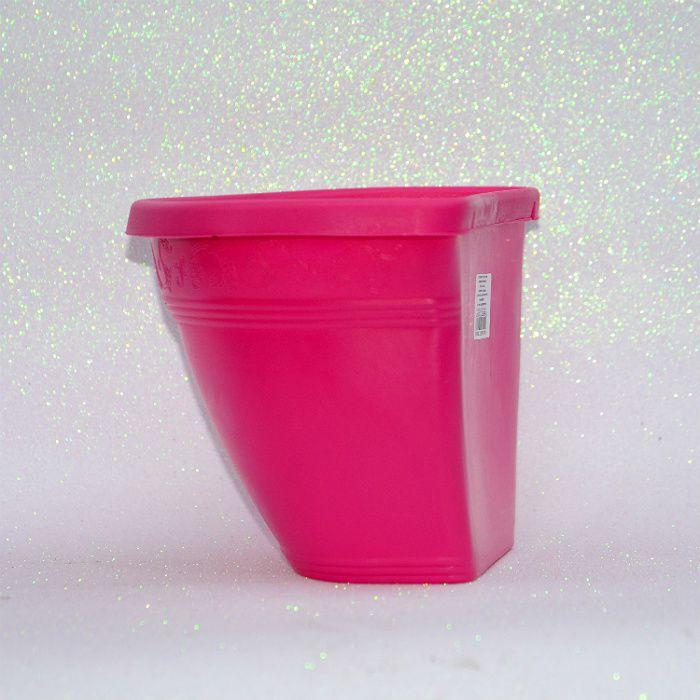 kit 30 - Vaso plástico de parede - vicenza - rosa - 23 cm