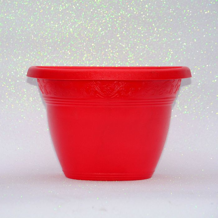 kit 30 - Vaso plástico de parede - vicenza - vermelho - 23 cm