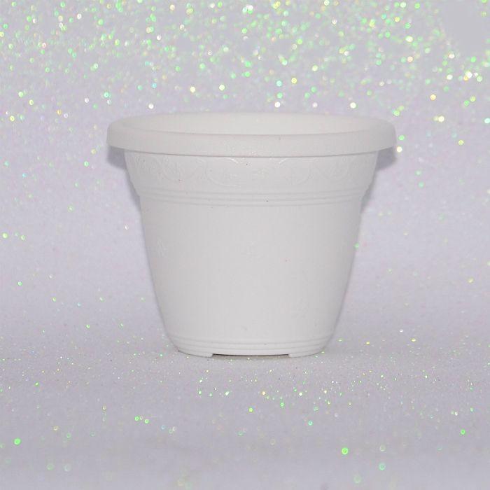 kit 50 - Vaso plástico redondo - vicenza - 35 cm