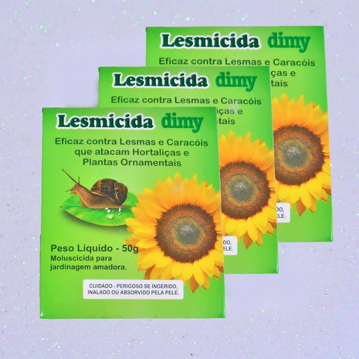 Lesmicida orgânico - 50 gr - dimy - kit 03 un