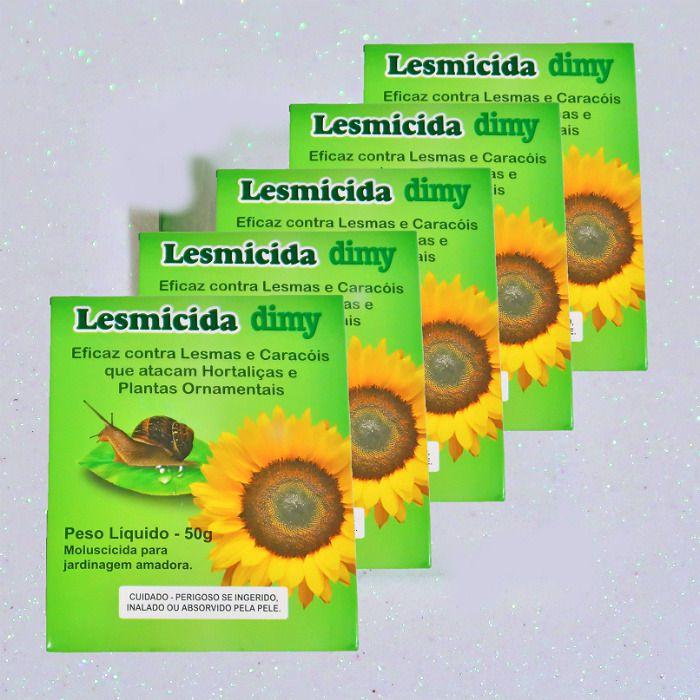 Lesmicida orgânico - 50 gr - dimy - kit 05 un