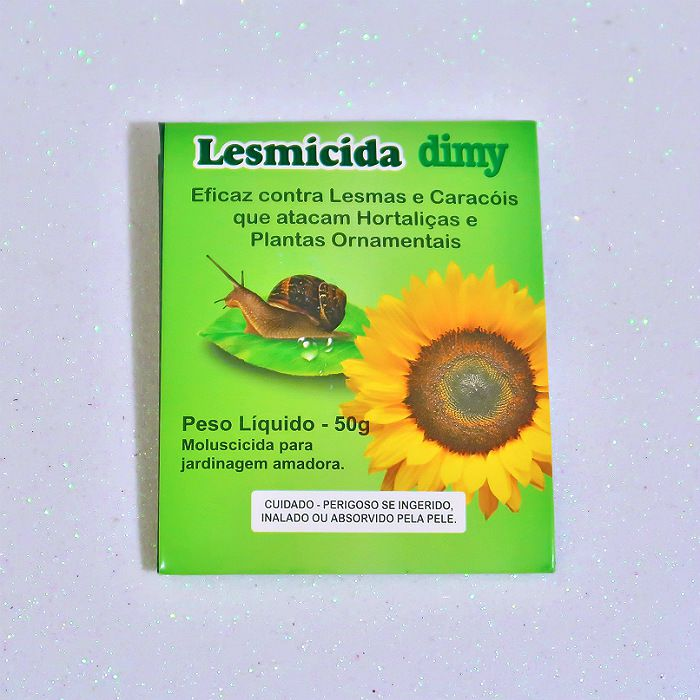 Lesmicida orgânico - 50 gr - dimy - kit 06 un