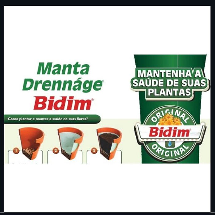 Manta para drenagem ( bidim ) - 1 x 2,15 m - produto fracionado