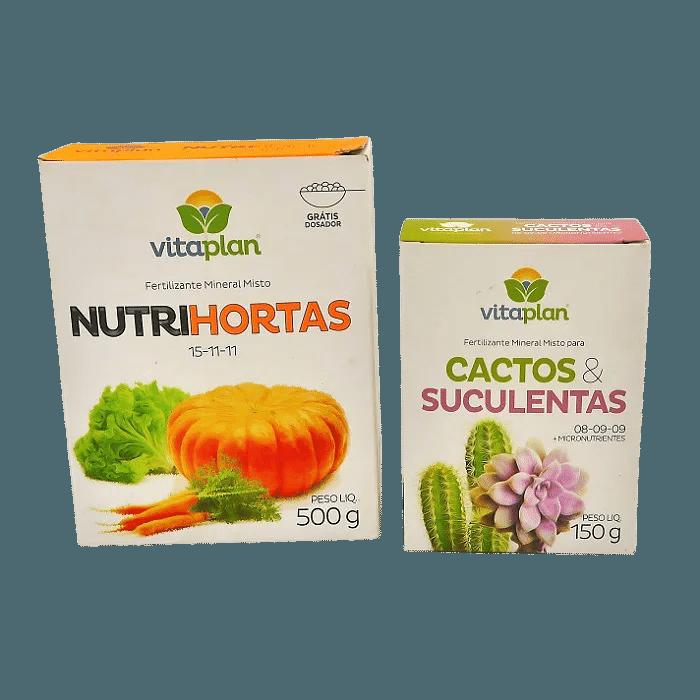 Nutrihortas + fert. Cactos e suculentas - vitaplan