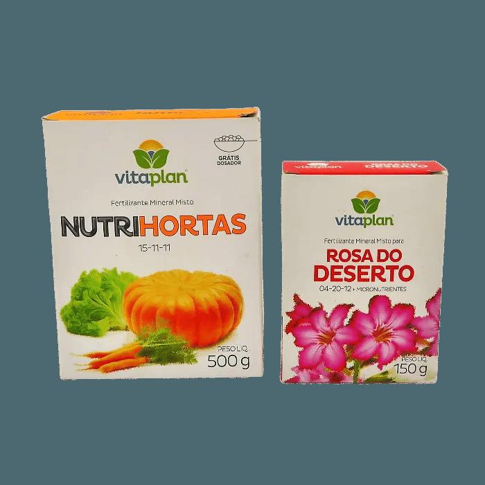 Nutrihortas + fert. Rosa do deserto - vitaplan