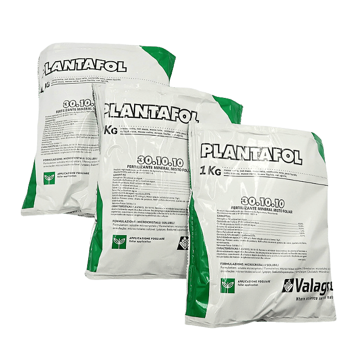 Plantafol - 30.10.10 - desenvolvimento - kit 03 pacotes 1 kg