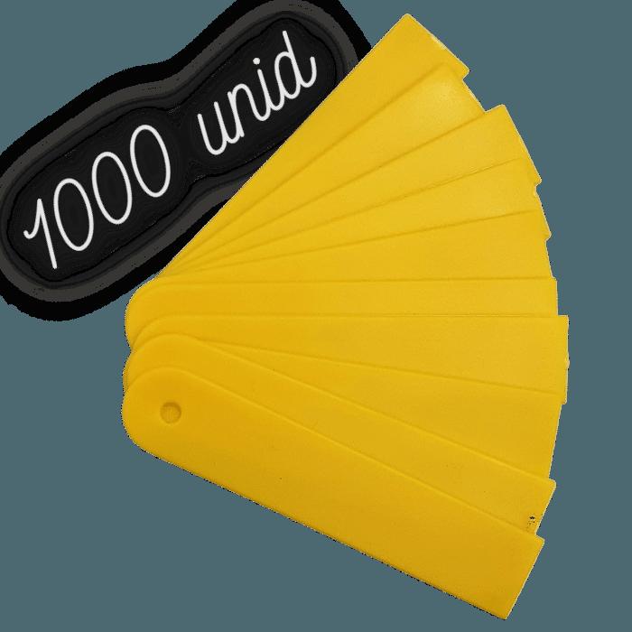 Plaquinha identificação amarela para plantas - 1000 unidades