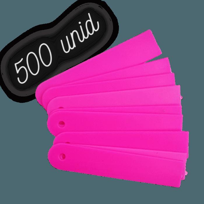 Plaquinha identificação rosa para plantas - 500 unidades