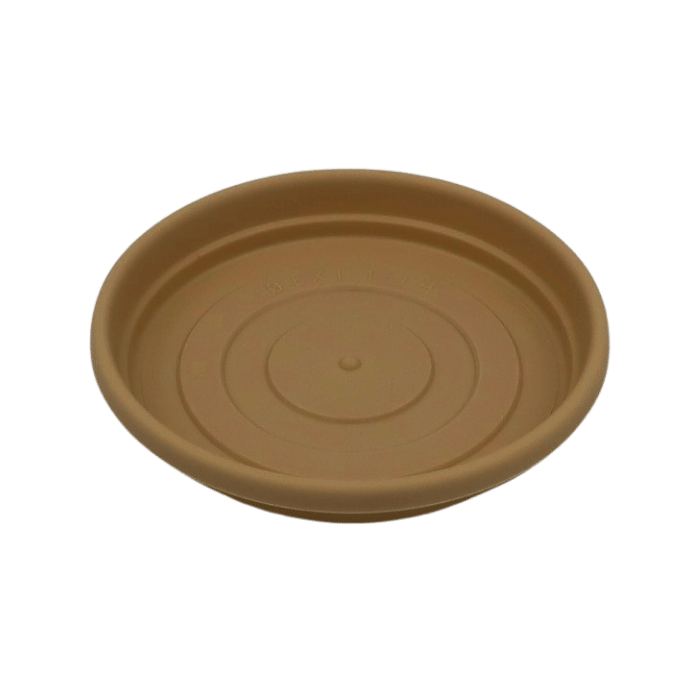 Prato plástico para vaso - areia - 13 cm - kit 06 unid