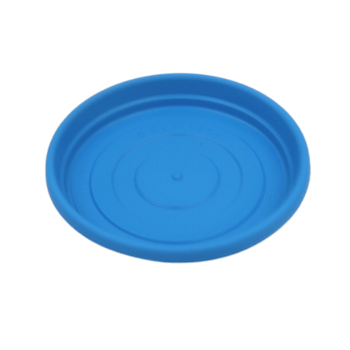 Prato plástico para vaso - azul - 13 cm