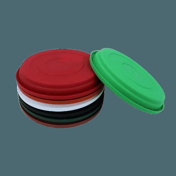 Prato plástico para vaso - colorido - 13 cm - kit 03 unid