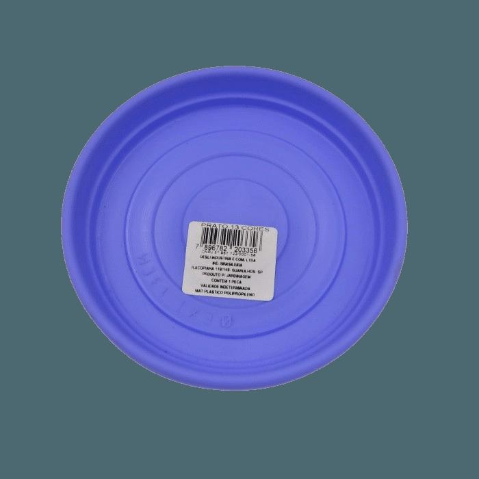 Prato plástico para vaso - lilás - 13 cm