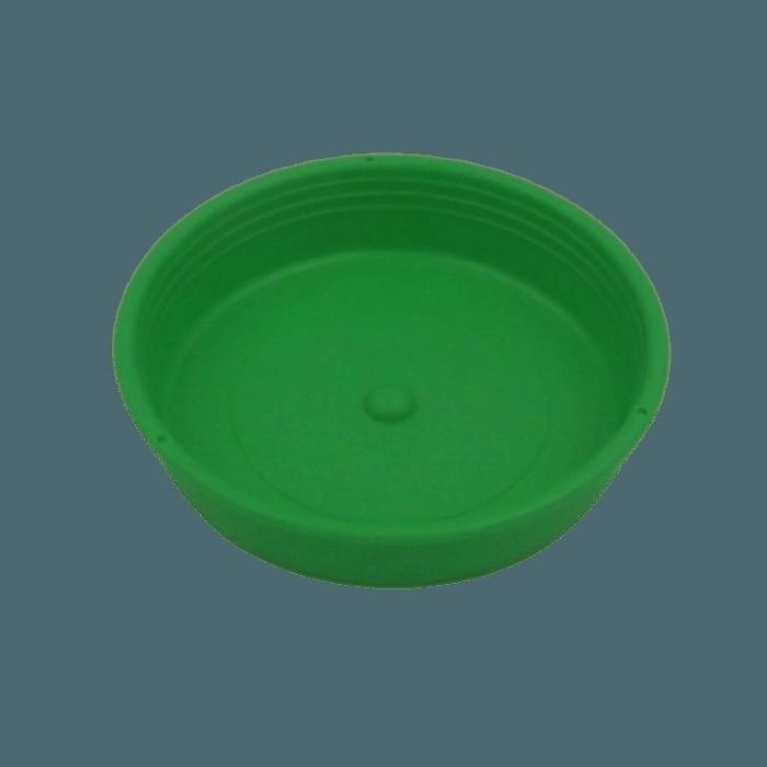 Prato plástico para vaso - verde - 09  cm