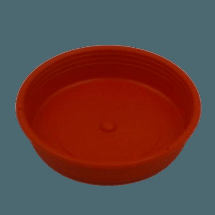 Prato plástico para vaso - vermelho - 13 cm