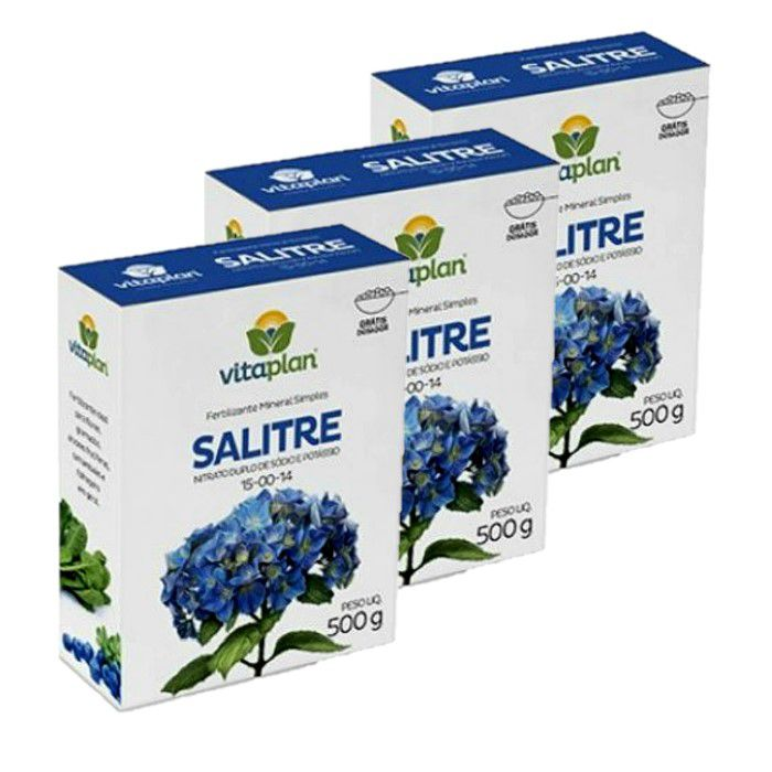 Salitre do Chile Vitaplan - kit 3 x 500 gr