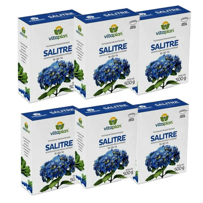Salitre do Chile Vitaplan - kit 6 x 500 gr