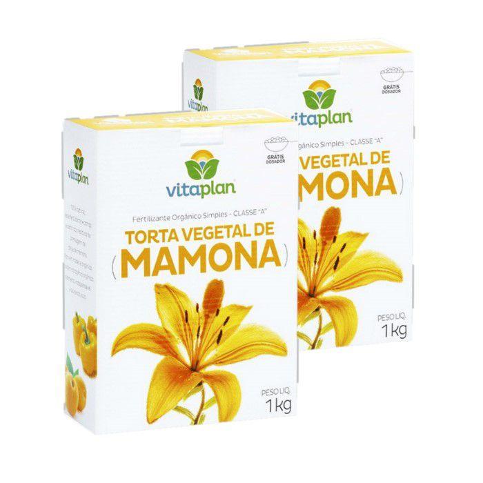 Torta mamona -  Vitaplan - kit 2 caixas 1 kg